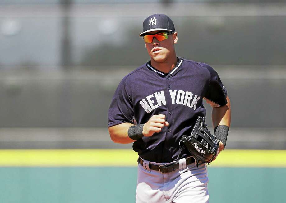 New York Yankees right fielder Aaron Judge has clubbed three homers to go with eight RBIs in his last seven games. Photo: Carlos Osorio — The Associated Press  / AP
