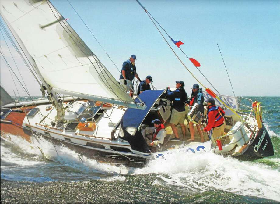 Submitted photo Seven Essex Yacht Club members are sailing aboard Checkmate, an Alden 44 (above), with skipper, owner and EYC Commodore Frank Flores at the helm. The race begins from the historic seaport of Newport, Rhode Island, Friday. Photo: Journal Register Co.