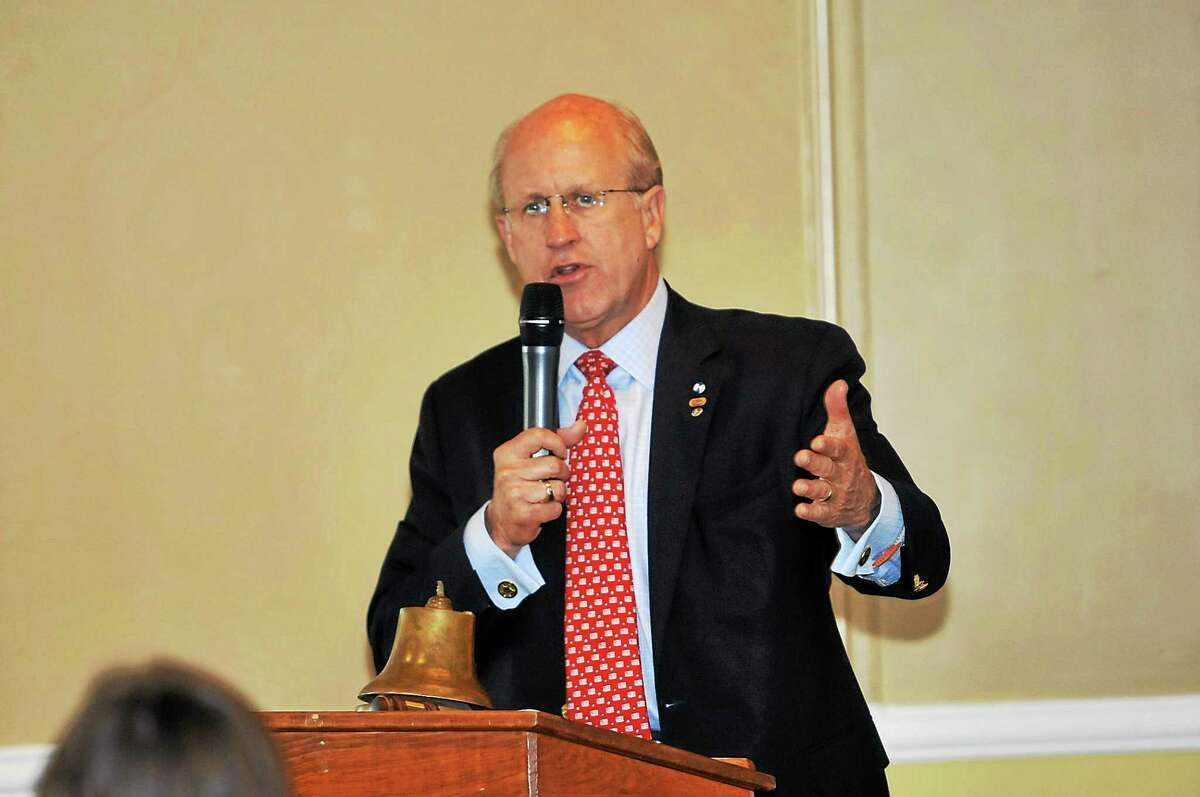 (Laurie Gaboardi - Register Citizen) David Walker, a Republican candidate for lieutenant governor, spoke to the Torrington-Winsted Rotary Club (file photo)