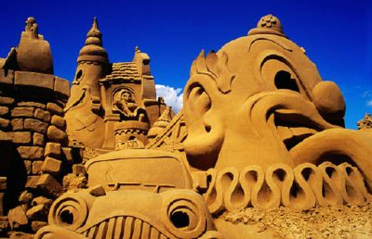 A sand sculpture from the Sand Sculpting Australia event, at Mornington Peninsula.