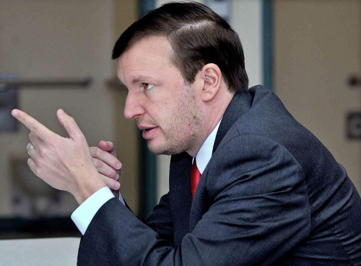 U.S. Sen. Chris Murphy speaks at the Connecticut Juvenile Training School in Middletown Thursday afternoon.