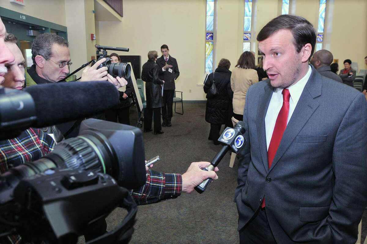 U.S. Sen. Chris Murphy speaks at the Connecticut Juvenile Training School in Middletown Monday afternoon. Catherine Avalone - The Middletown Press