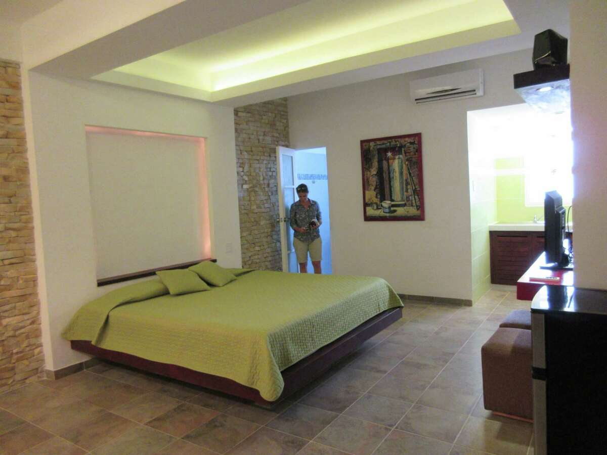 Majel Reyes in the apartment she renovated to rent to visitors via Airbnb and other sites, in Havana, Cuba.