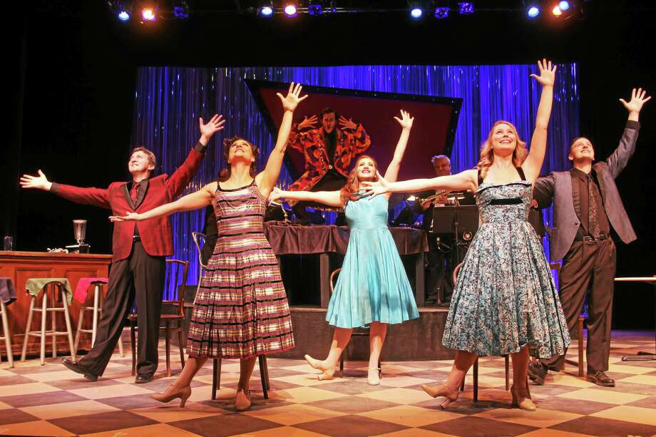 """Contributed photo The cast of """"The Wildest!"""" rehearses a scene from the musical being staged at Seven Angels Theatre in Waterbury. Photo: Journal Register Co."""