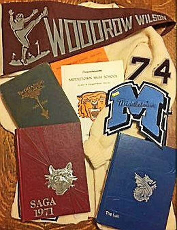Memorabilia from Woodrow Wilson High School in Middletown will soon be part of the Wall of Honor that is tasked to the Ad Hoc Naming of School Facilities Committee. Photo: Courtesy Middletown School District