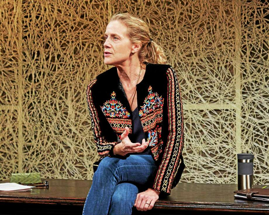 "Photo by Lanny NaglerKate Levy plays Dr. Jamison in Theaterworks' ""Third."" Photo: Journal Register Co."