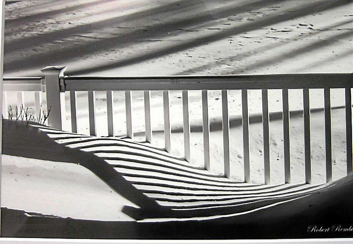 """""""Snow Shadows,"""" the work of Robert Rembish, 72, of Plantsville, took first place in photography last year."""
