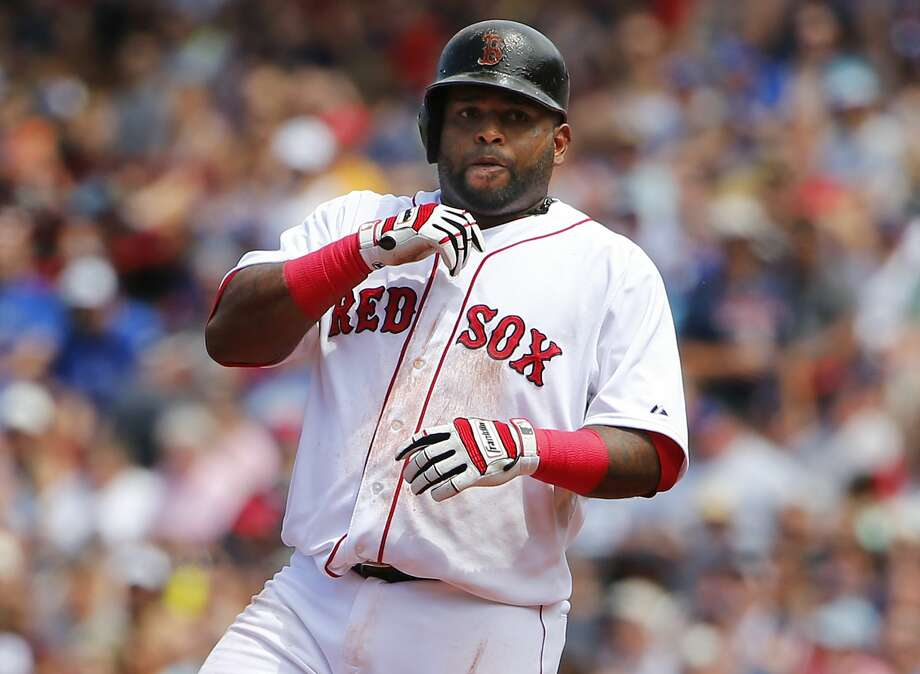 Boston Red Sox third baseman Pablo Sandoval has been benched for using Instragram during a game. Photo: Winslow Townson — The Associated Press  / FR170221 AP