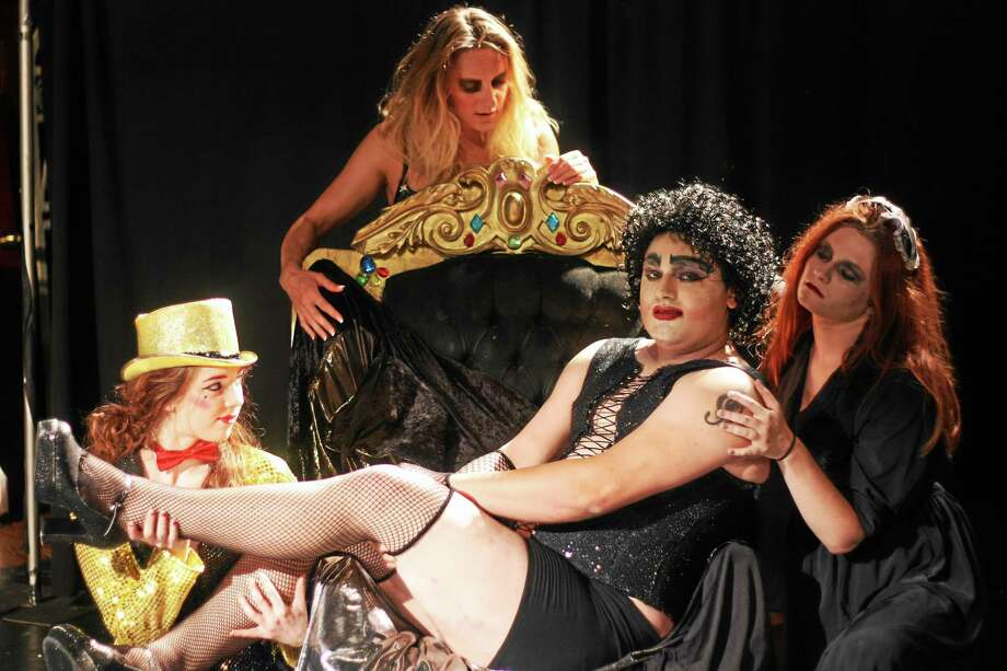 Photos by Jason Truby Dani Kay, Amber Gildersleeve, Michael Gonsalves  and Kristin Bennett in a scene from The Rocky Horror Show. Photo: Journal Register Co.