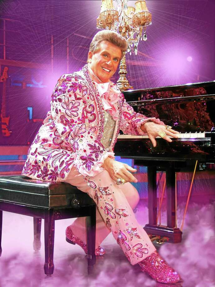 Contributed photo The Ivoryton Playhouse is putting on the glitz Oct. 28 with Brent Hazelton's remarkable new musical Liberace!, a moving and highly entertaining tribute to the performer and musician famous for his charm, flamboyance  and glamour. Photo: Journal Register Co.