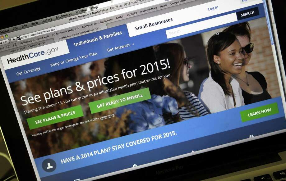 In this Nov. 12, 2014 photo, the HealthCare.gov website, where people can buy health insurance, is seen on a laptop screen. Photo: AP Photo/Don Ryan, File  / AP