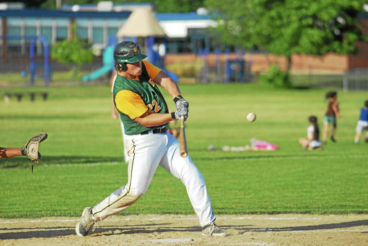 RCP first baseman Josh Zawisa had a two-run single in the first inning against New Britain.