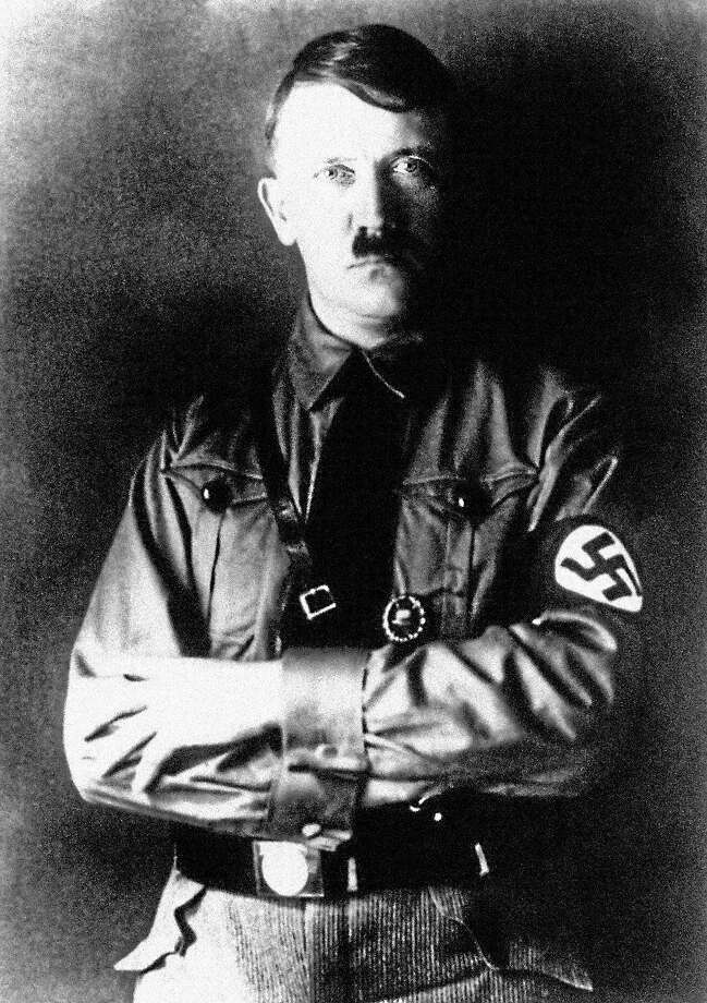 Profile of Adolf Hitler in uniform including Swastika circa 1930. Photo: AP Photo
