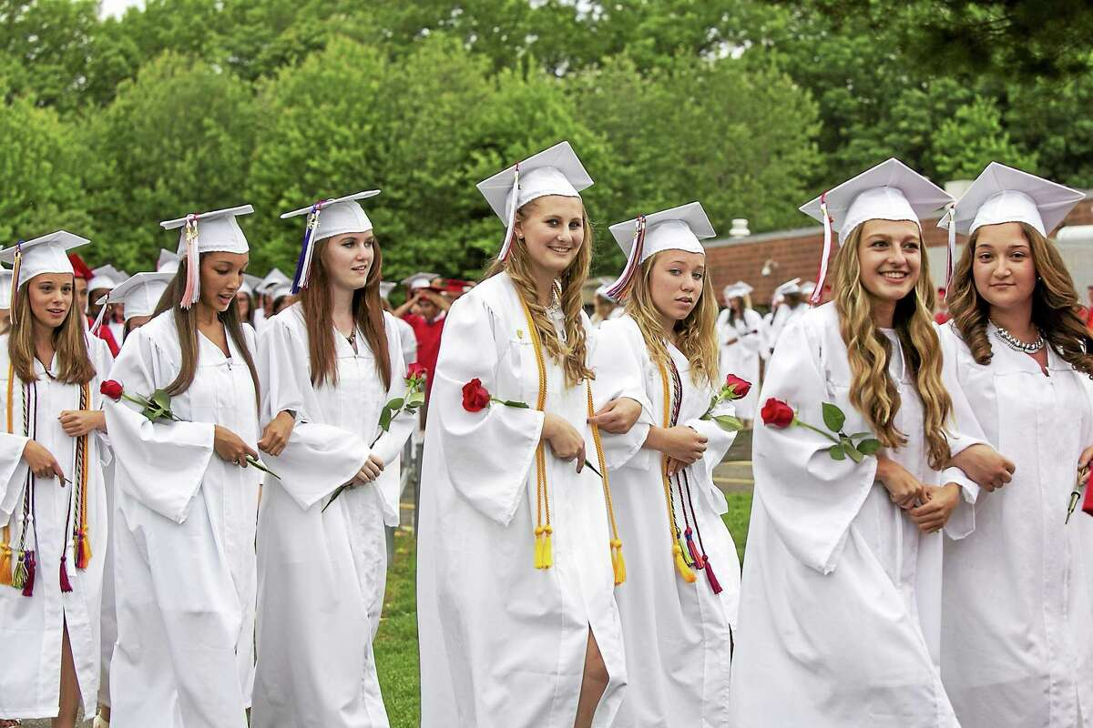 """Rather than deliver a traditional commencement speech to the graduates on June 17, Cromwell Superintendent of Schools Paul Talty gave the Class of 2015 five solid pieces of advice, including, """"not everything is about you,"""" and """"stay positive and believe in yourselves."""""""