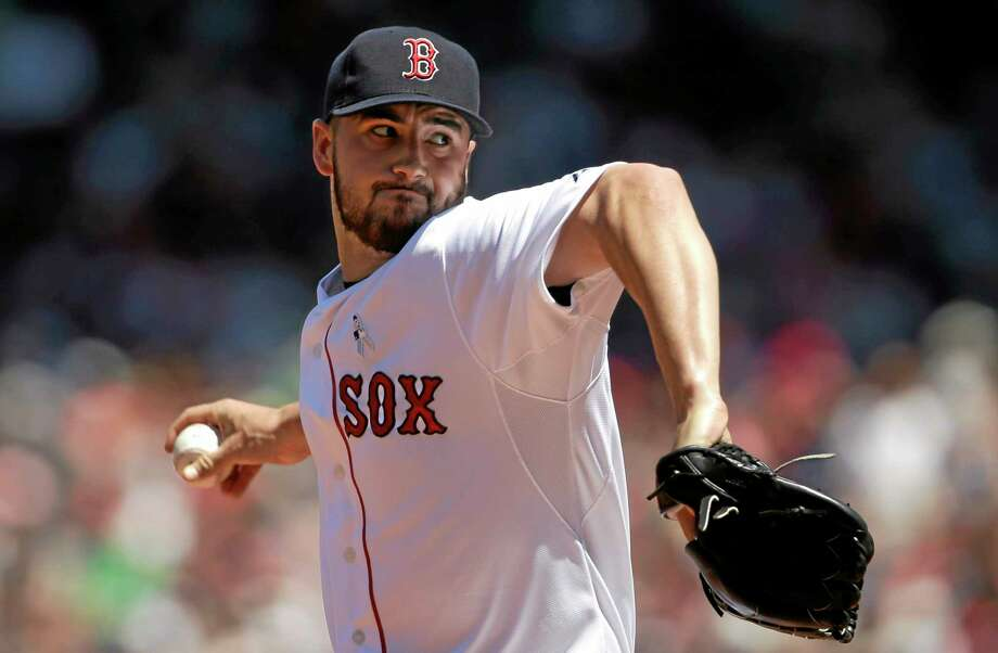 Boston Red Sox starter Brandon Workman began serving his six-game suspension on Wednesday. Photo: Steven Senne — The Associated Press  / AP