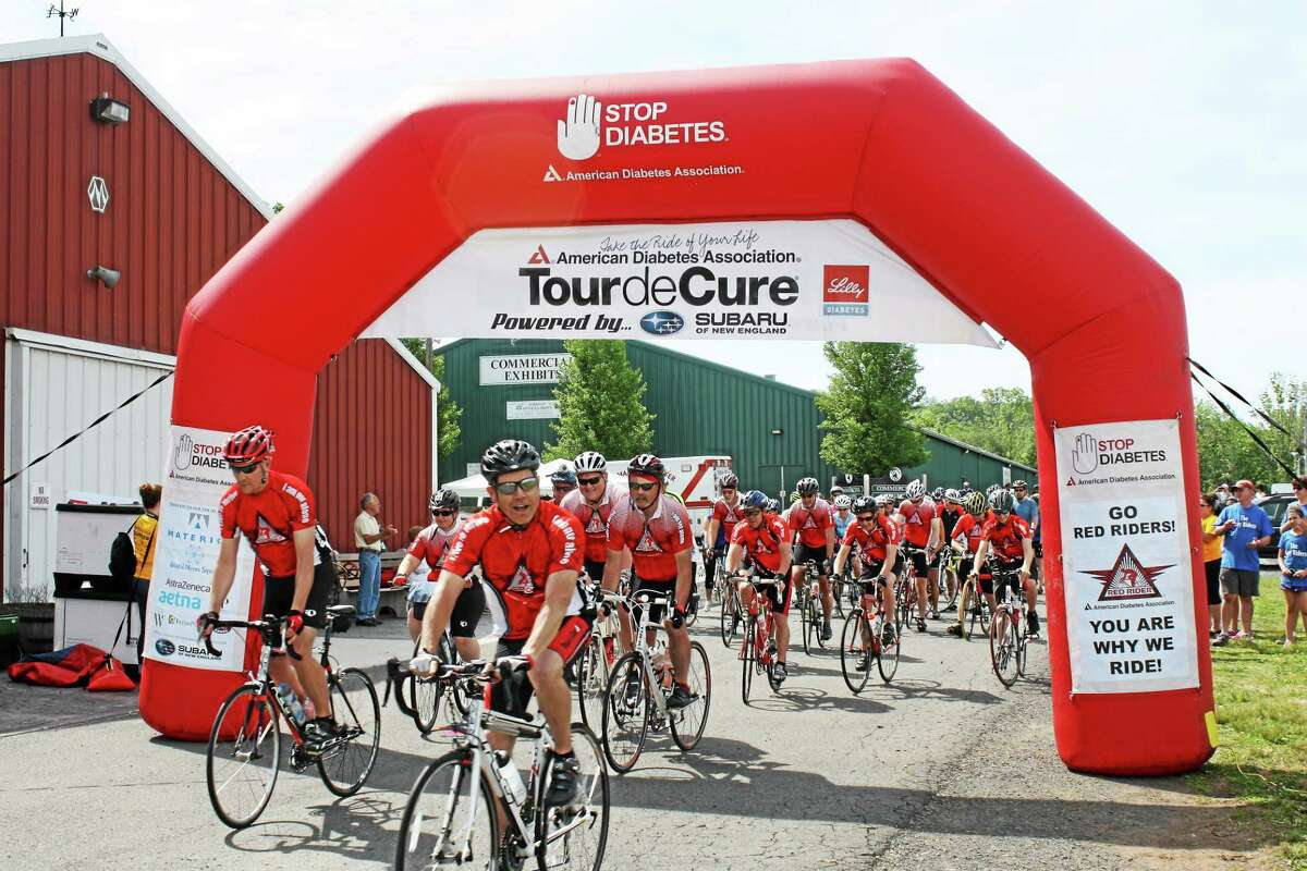 Rachel Feinberg - Special to the Press More than 300 New England residents helped Stop Diabetes by participating in the American Diabetes Association's Connecticut Tour de Cure June 8 in Durham.