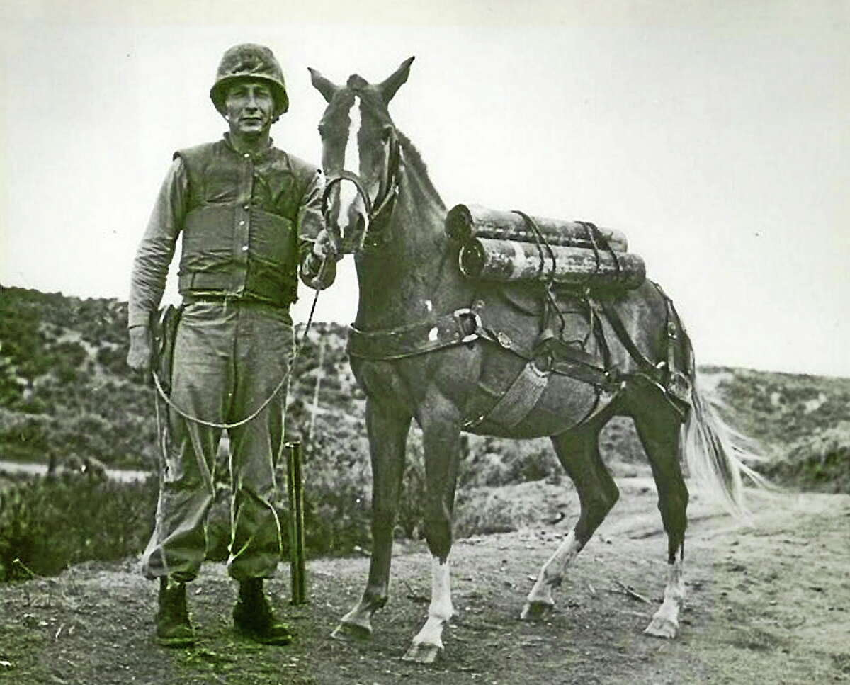 Submitted photo Sgt. Reckless with Sgt. Joe Latham.