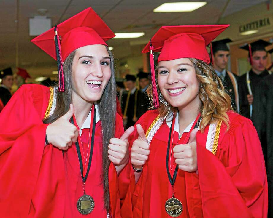Sandy Aldieri - Special to the Press The Portland High School class of 2014 graduated Wednesday. Photo: Journal Register Co.
