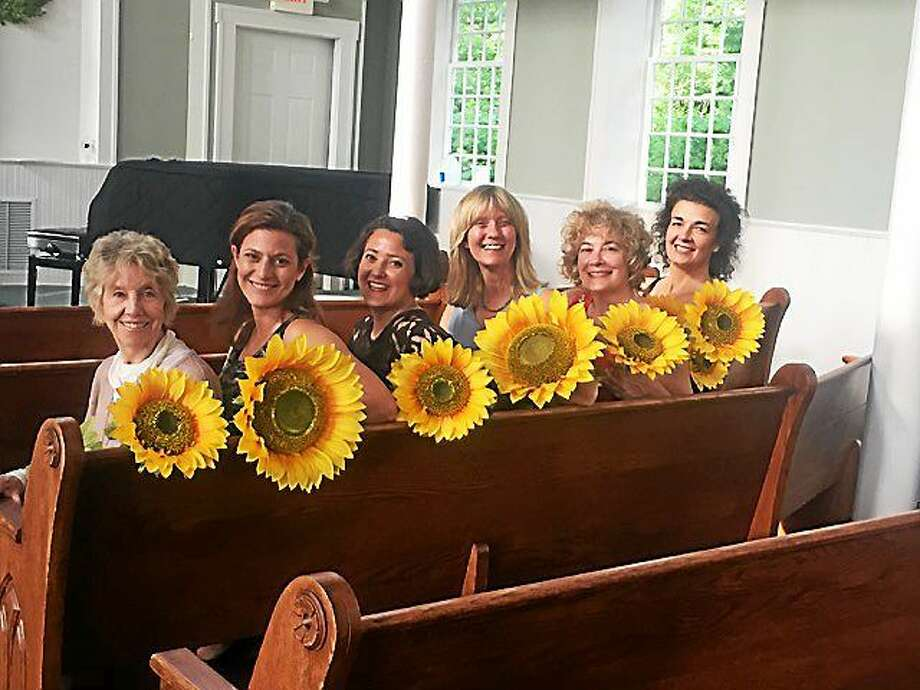 "Contributed photo The cast of ""Calendar Girls"" playing now at the Ivoryton Playhouse. Photo: Journal Register Co."