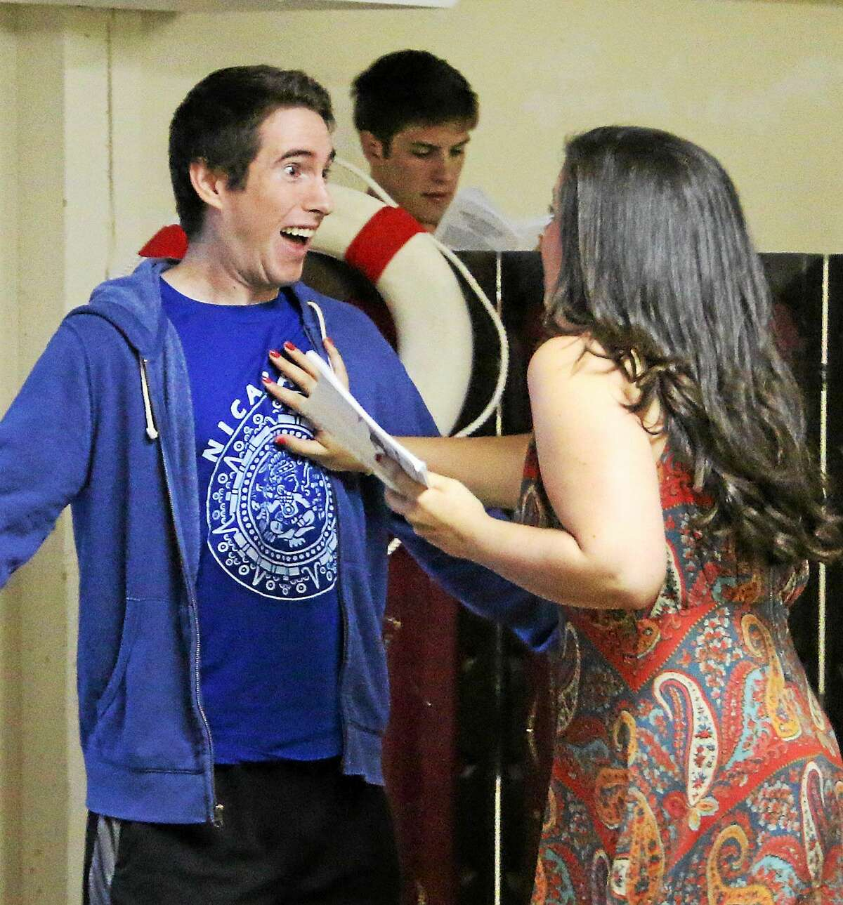 Contributed photo Saybrook Stage Company actors rehearse for