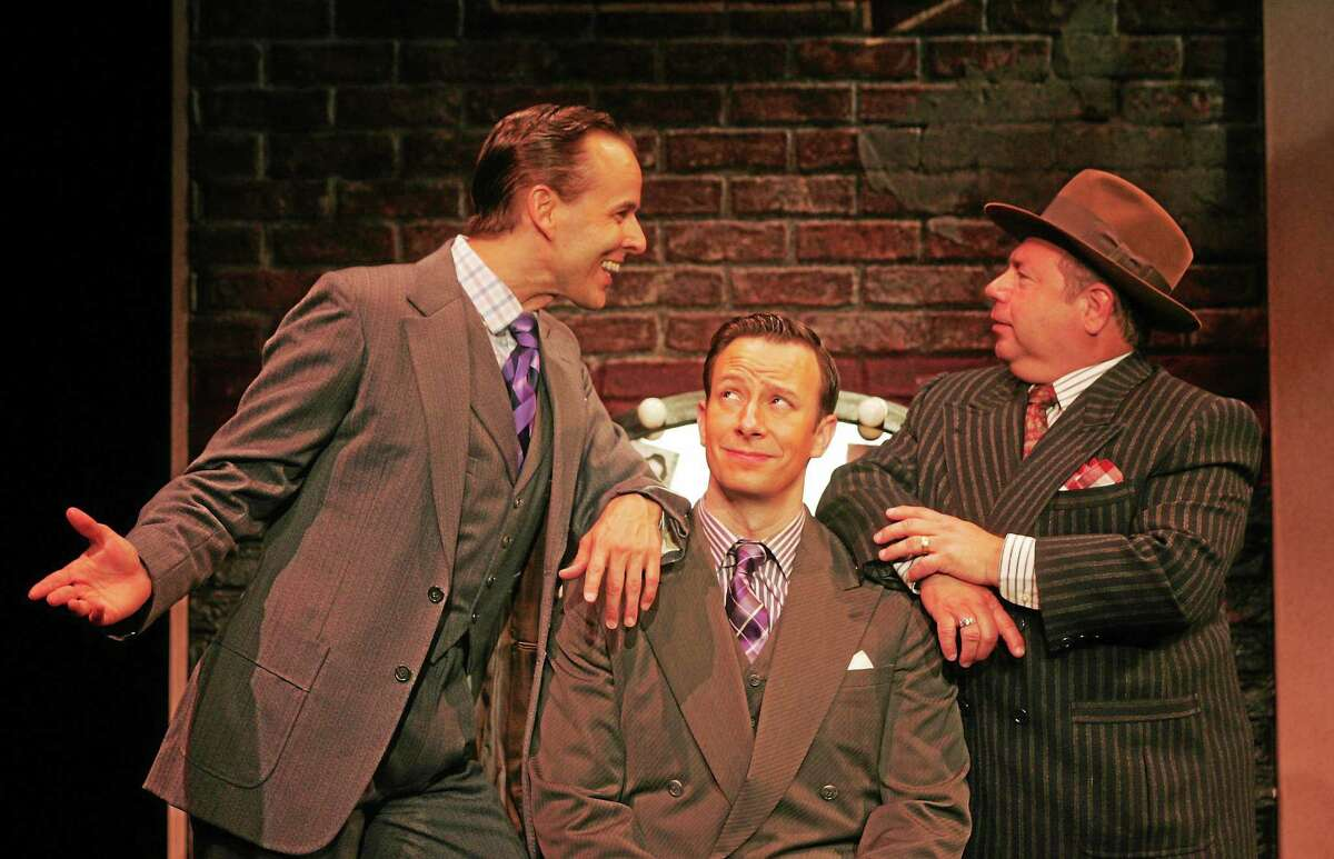 """Actors Noah Racey, Tally Sessions and Danny Rutigliano in a scene from """"Holiday Inn"""" at Goodspeed."""