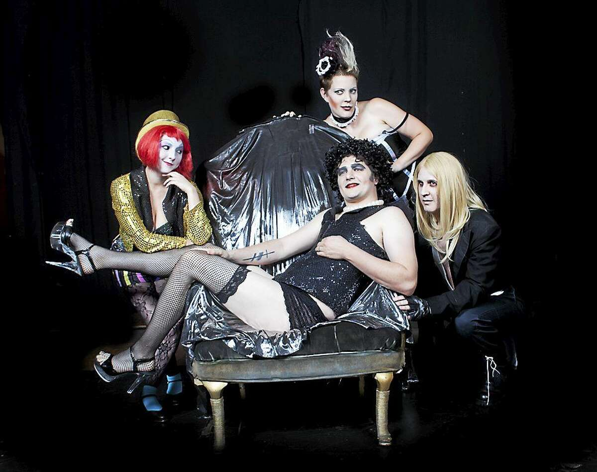 From left, Virginia Skinner, Em Mazotas, John Demetre and Adam Boe as Magenta, Columbia, Riff Raff and Frank-n-Furter.