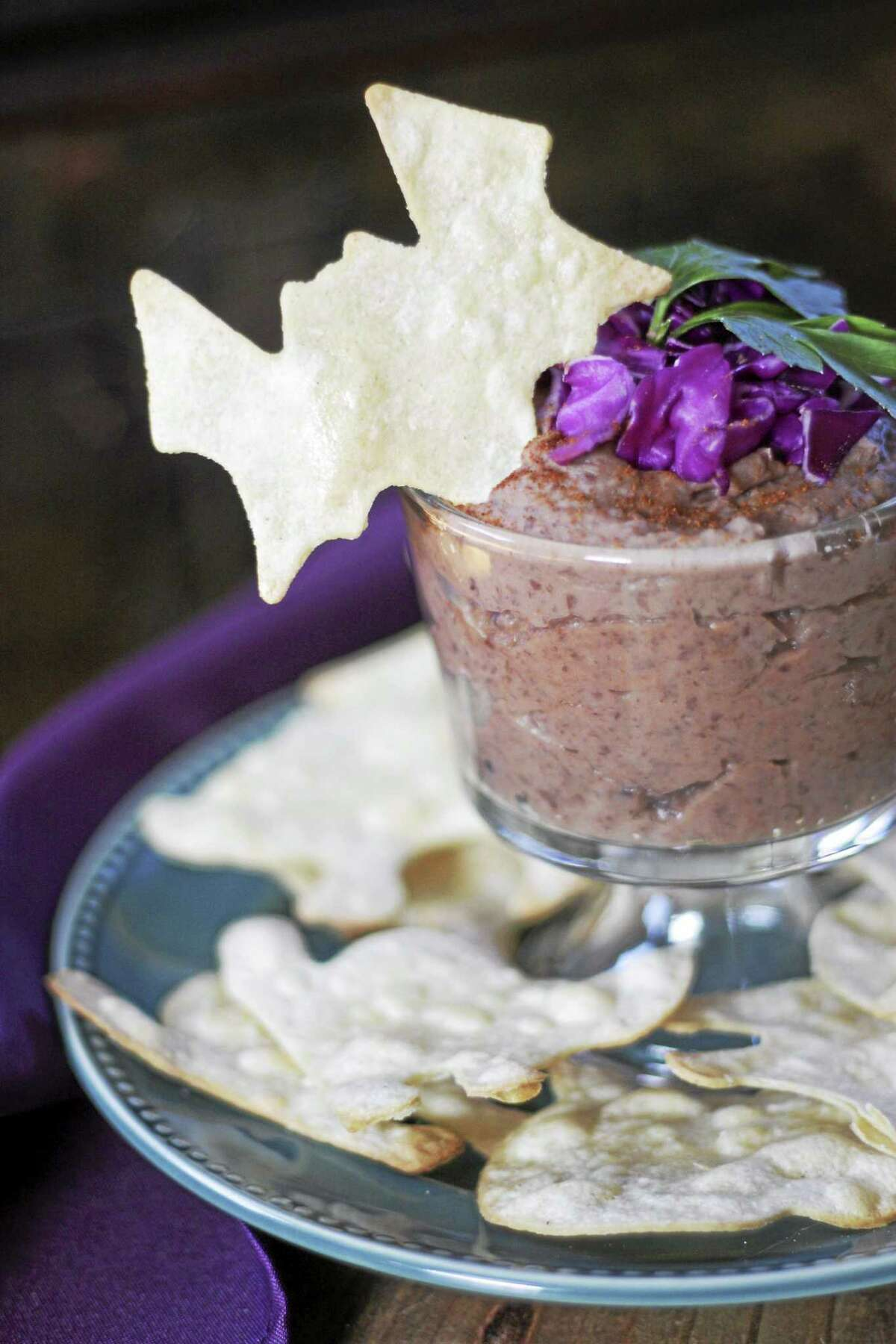 It's Only Natural Restaurant of Middletown offers this recipe for ghostly black bean dip.