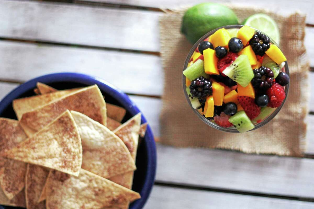 Fruit salsa and baked cinnamon sugar chips are an easy, satisfying snack. Submitted photo.