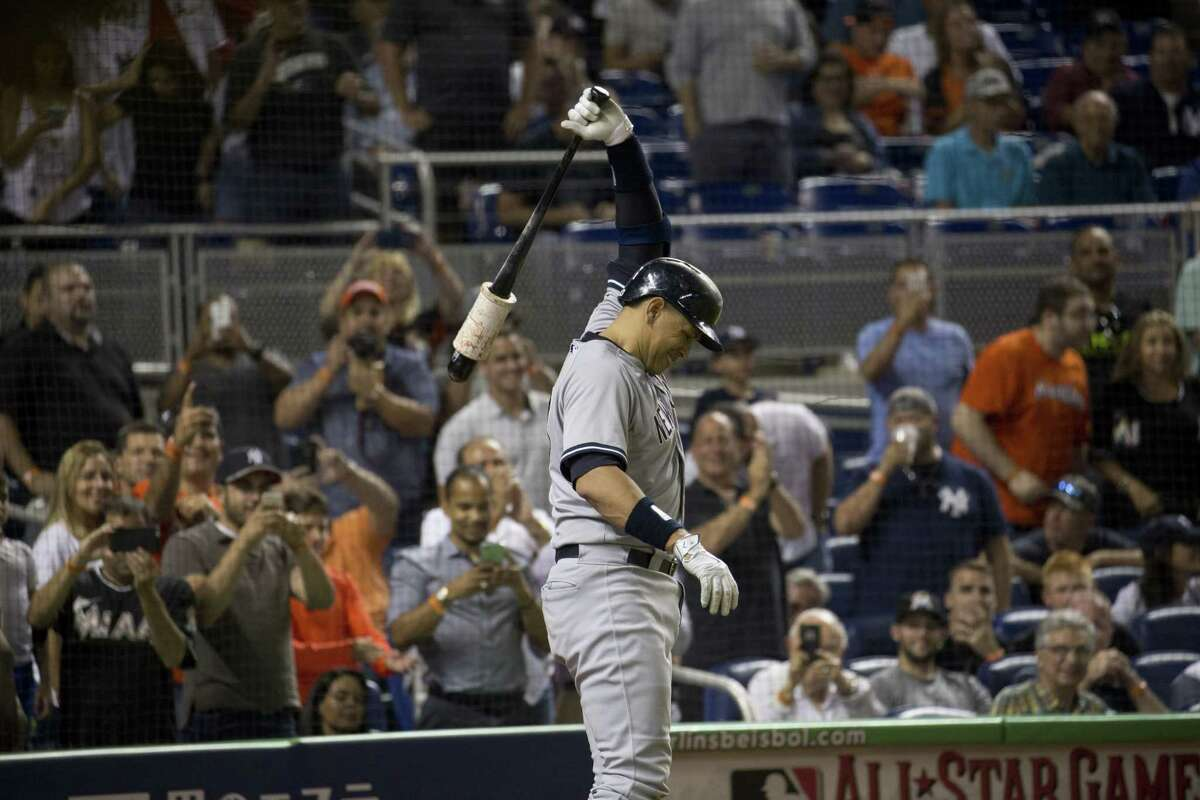New York Yankees DH Alex Rodriguez prepares to bat Monday night against the Marlins in Miami.