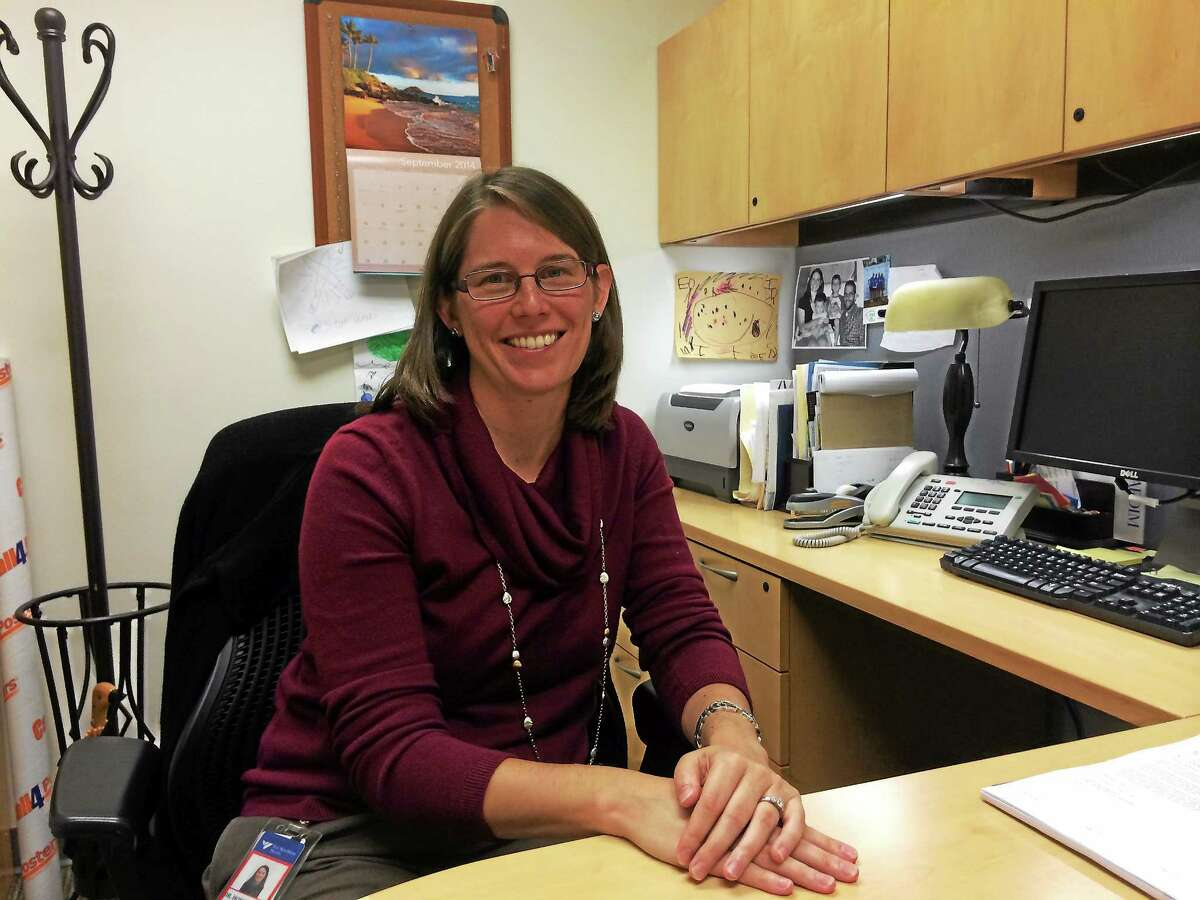 Dr. Erin Hofstatter, a Yale research scientist, is studying black cohosh. Photo by Jenifer Frank