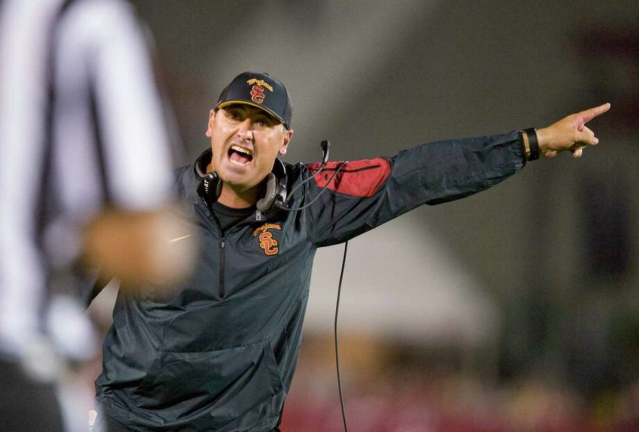 Southern California coach Steve Sarkisian. Photo: Paul Rodriguez — The Orange County Register Via AP  / The Orange County Register