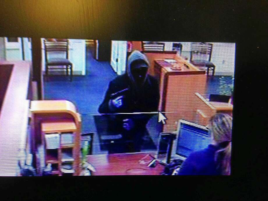 A masked gunman robbed the Liberty Bank in Durham on Jan. 23, shown above in this file photo. Police say his description matches that of the man who robbed the Liberty Bank on Route 66 in Middletown on Feb. 6. Photo: Courtesy Middletown Police