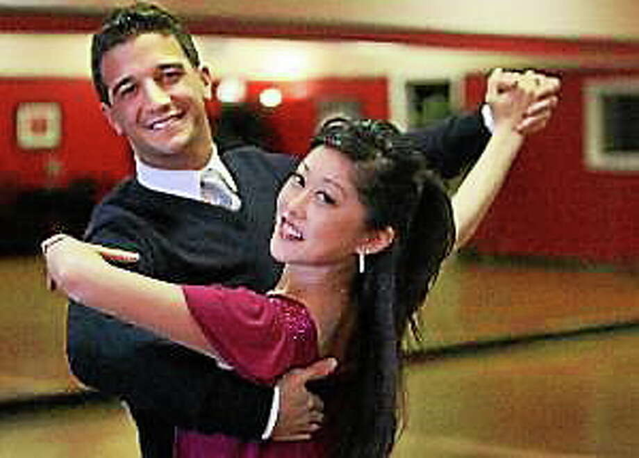 "Mark Ballas, left, of ""Dancing with the Stars"" and Kristi Yamaguchi rehearse a ballroom dance piece at CC & CO Dance Complex in Raleigh, North Carolina, February 21, 2008. Photo: (Pailin Wedel — Raleigh News & Observer)"