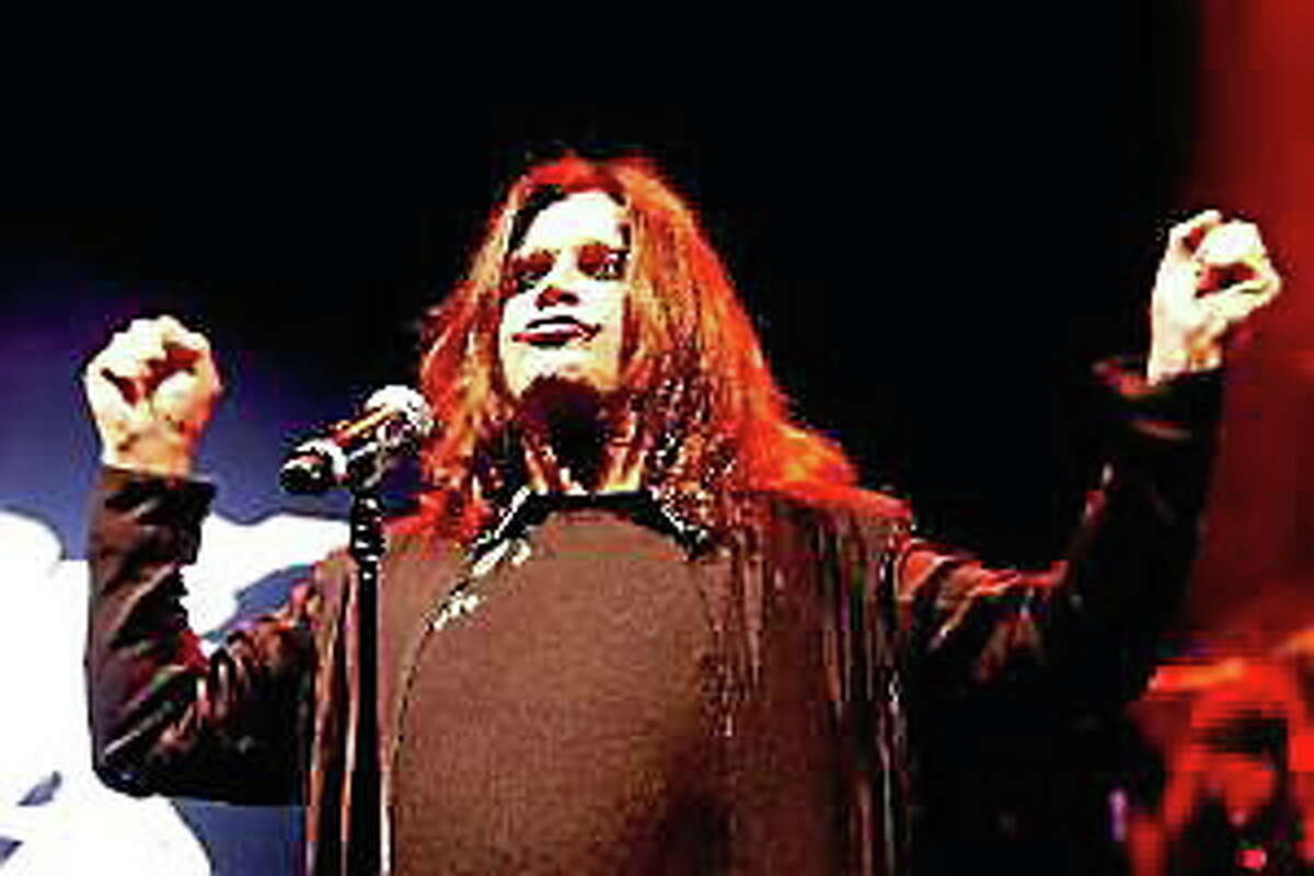 Black Sabbath singer Ozzy Osbourne during performance at Shoreline Amphitheater in Mountain View, Calif., on Aug. 26, 2013.