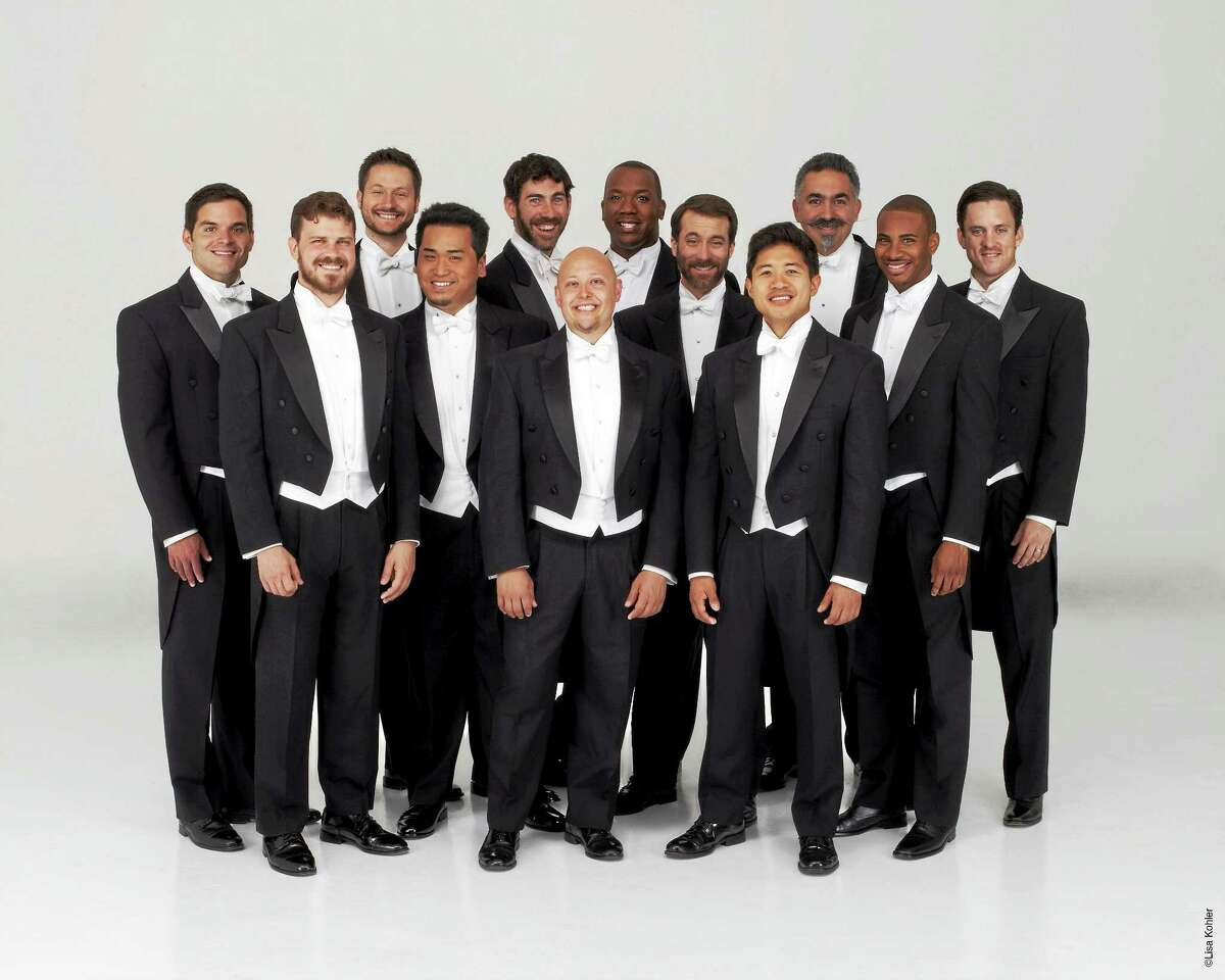 Contributed photo - Chanticleer The Grammy award-winning male vocal ensemble Chanticleer will perform on the Essex Winter Series on Sunday, March 1 at 3:00 p.m. at Old Saybrook High School. Chanticleer has been hailed as ìthe worldís reigning male chorusî by The New Yorker, and under its newly-appointed music director, William Fred Scott, the twelve-voice ensemble will perform a program of music from the sixteenth century to the present entitled ìThe Gypsy in My Soul.î