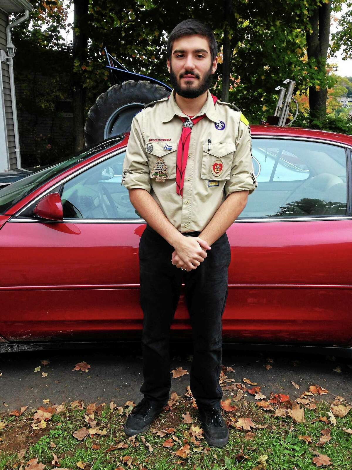 Eagle Scout candidate Jacob Barton of Durham