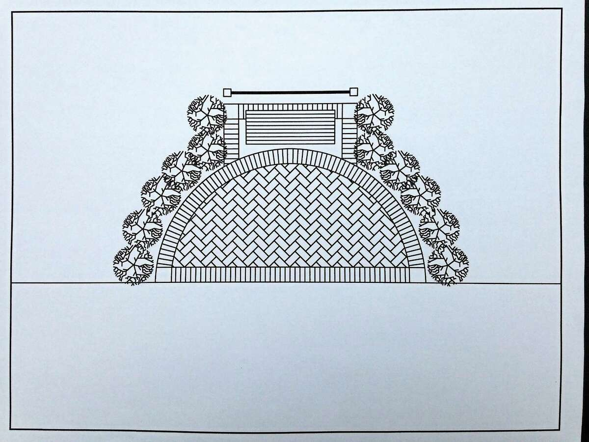 Eagle Scout candidate Jacob Barton of Durham created these plans to build a memorial brick patio at Allen Brook Park.