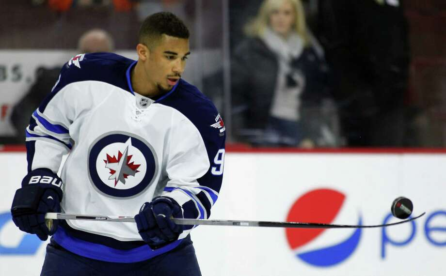 The Winnipeg Jets traded Evander Kane to the Buffalo Sabres on Wednesday. Photo: Tom Mihalek — The Associated Press  / Tom Mihalek/2014/All Rights Reservered