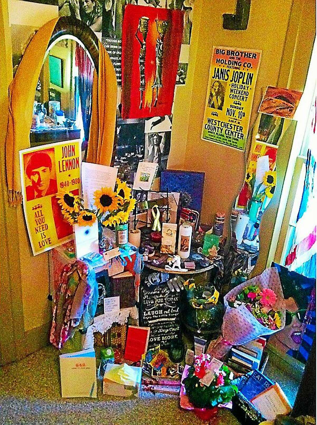 Jillian Geysen's room is filled with gifts from well-wishers.
