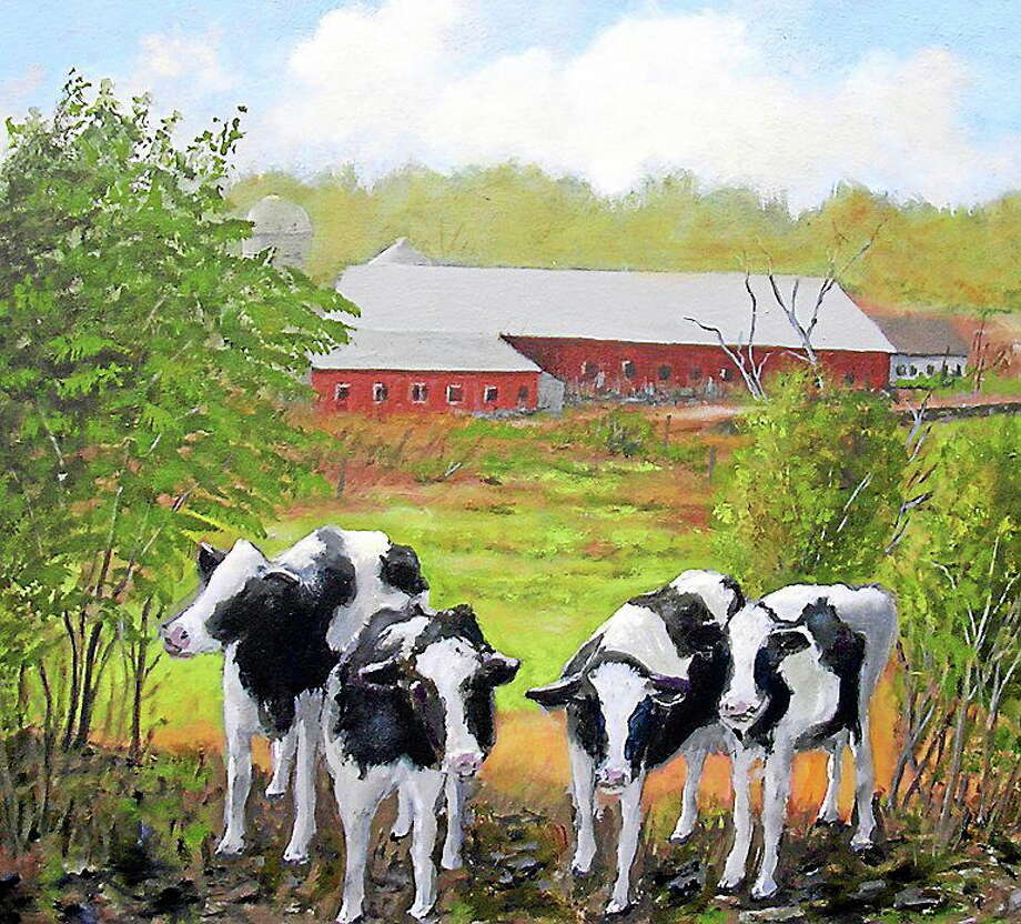 "Submitted photos courtesy of the artists.  Jay Babina's ""Four Cows."" Photo: Journal Register Co."