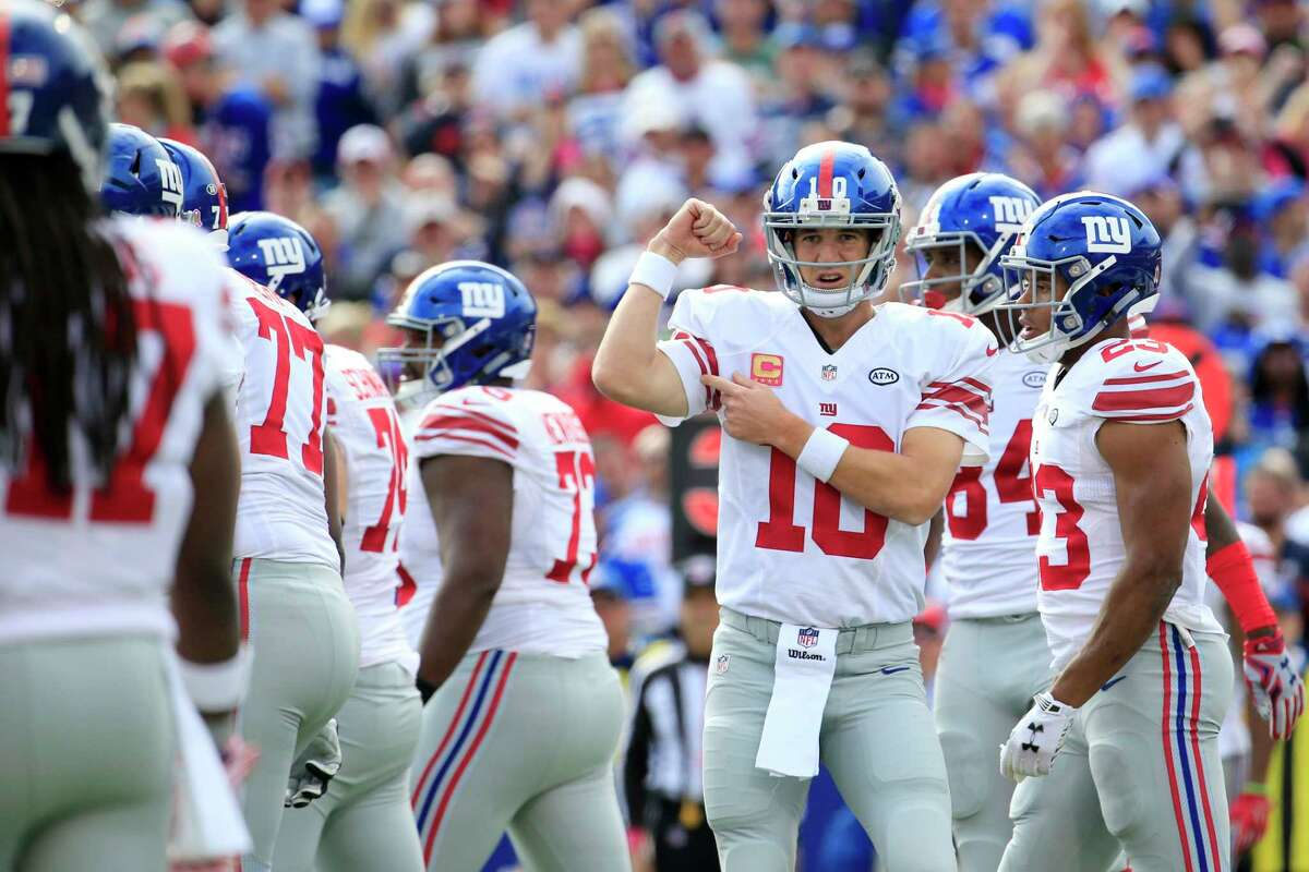 Quarterback Eli Manning and the Giants will look to post their third straight win when they host the 49ers tonight.