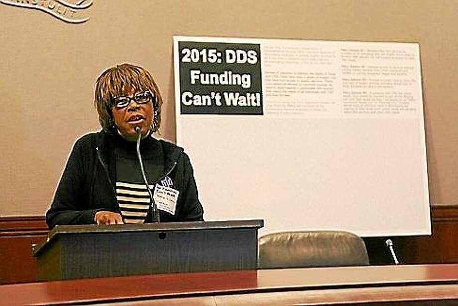 Velma Williams-Estese. (Hugh McQuaid - CT News Junkie) Photo: Journal Register Co.