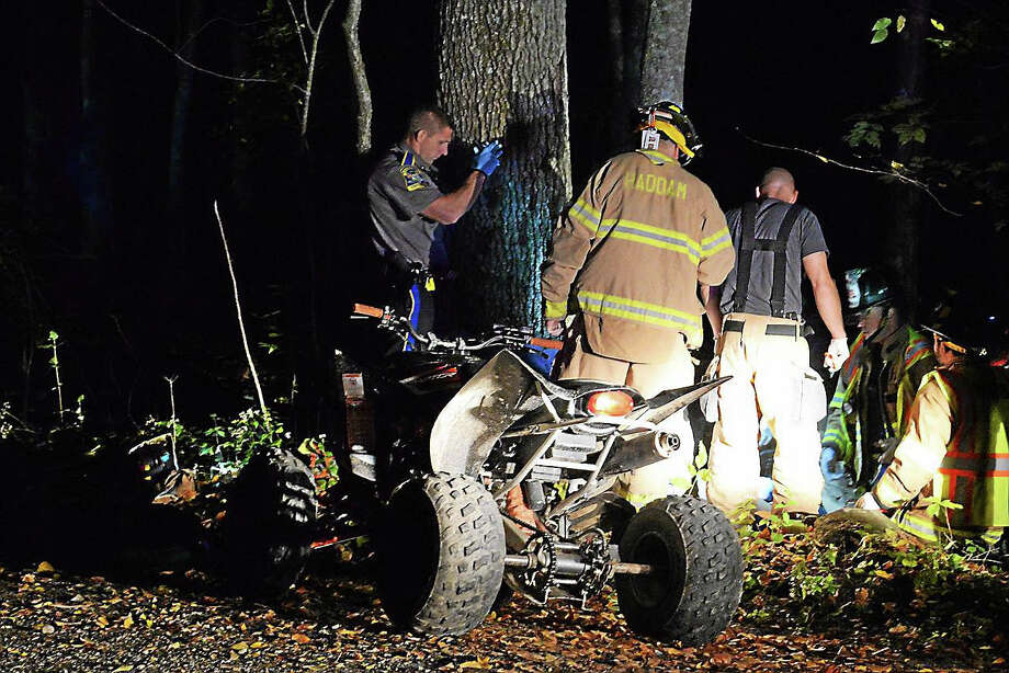 Life Star transported two patients to Hartford Hospital with what appeared to be serious injuries after an ATV accident early Saturday. Photo: Courtesy Haddam Volunteer Fire