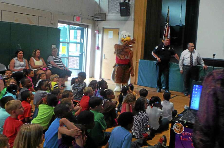 Middletown Elks, with the cooperation from Middletown Police and the education board has presented as a pilot program to Bielefield School students called the Eddie Eagle GunSafe Program. Photo: Submitted Photo