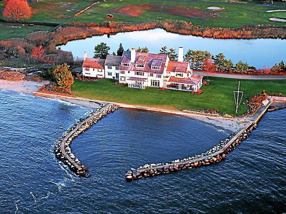 Courtesy photo Katharine Hepburn's home in Old Saybrook. Photo: Journal Register Co.