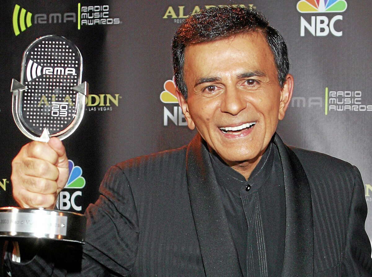 In this Oct. 27, 2003 photo, Casey Kasem poses for photographers after receiving the Radio Icon award during The 2003 Radio Music Awards in Las Vegas.