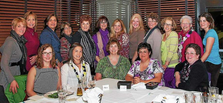 A group of women at one of the regular monthly empowerment dinner meetings offered by visual image coach Terry Standish, owner of Eye for Fashion. She's offering a program, Power of Choice, at Lyman Orchards in Middlefield next month. Photo: Photo Courtesy T. Standish