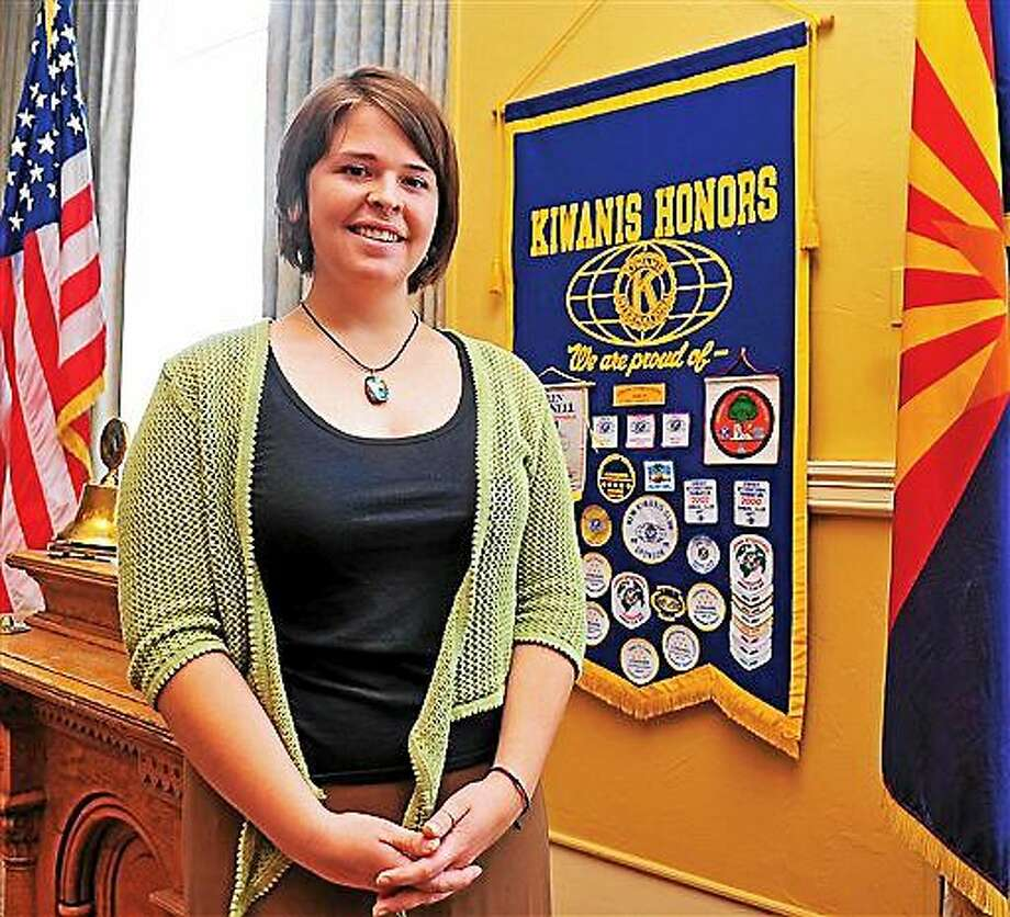 In this May 30, 2013, photo, Kayla Mueller is shown after speaking to a group in Prescott, Ariz.  The parents of an American woman held by Islamic State militants say they have been notified of her death. Carl and Marsha Mueller, the parents of Kayla Jean Mueller, released a statement on Tuesday saying they have been told that she has died. The White House also issued a statement confirming her death.The Islamic State group said Friday that the 26-year-old Mueller from Prescott, Arizona, died in a Jordanian airstrike. (AP Photo/The Daily Courier, Matt Hinshaw) MANDATORY CREDIT Photo: AP / The Daily Courier