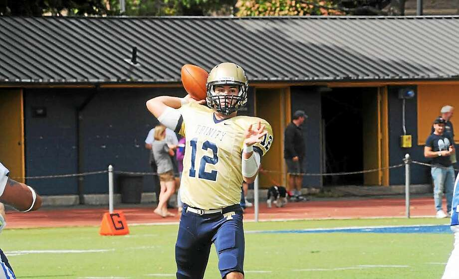 Hand graduate Henry Foye is the starting quarterback at Trinity. The junior is now in charge of protecting the Bantams' 52-game home winning streak, a stretch which began when he was in elementary school. Photo: Photo Courtesy Of Trinity Athletics