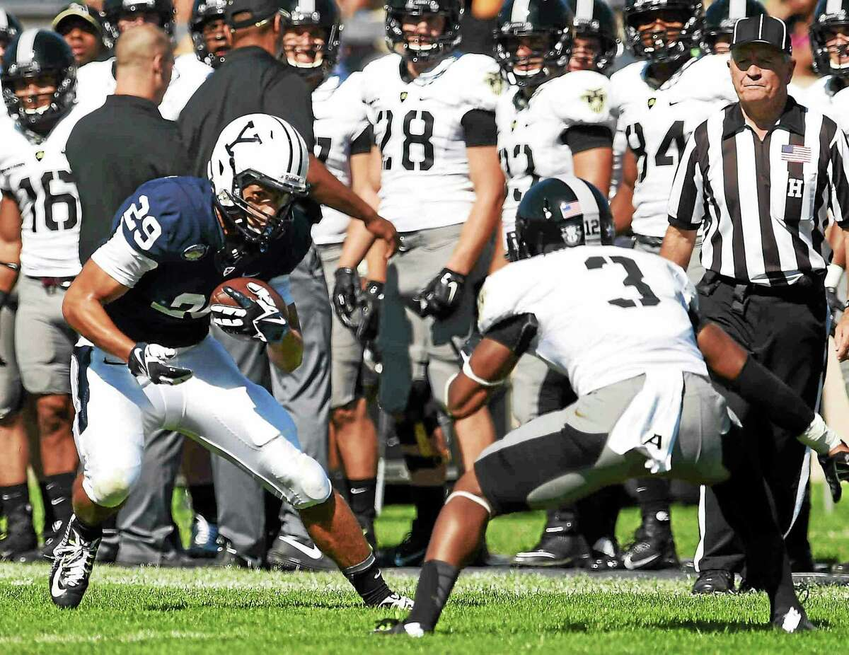Yale senior receiver Grant Wallace (29) is enjoying his role in one of the nation's most prolific offenses.